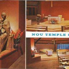 Postales: SANT PAU DE SEGÚRIES, RIPOLLÈS, NOU TEMPLE 1971 - ESCLUSIVAS SAN PABLO - S/C. Lote 126784363