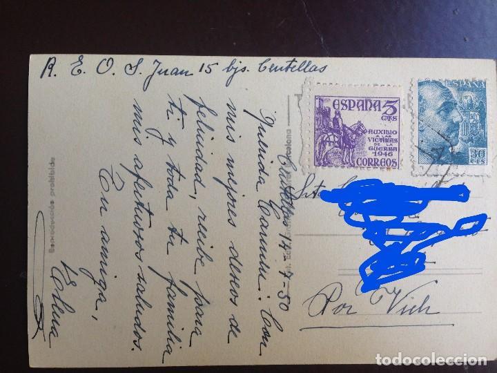 Postales: Centellas. 7 - PORTAL Y CALLE NUEVA. GUILERA - CIRCULADA 1950 - Foto 4 - 126986503