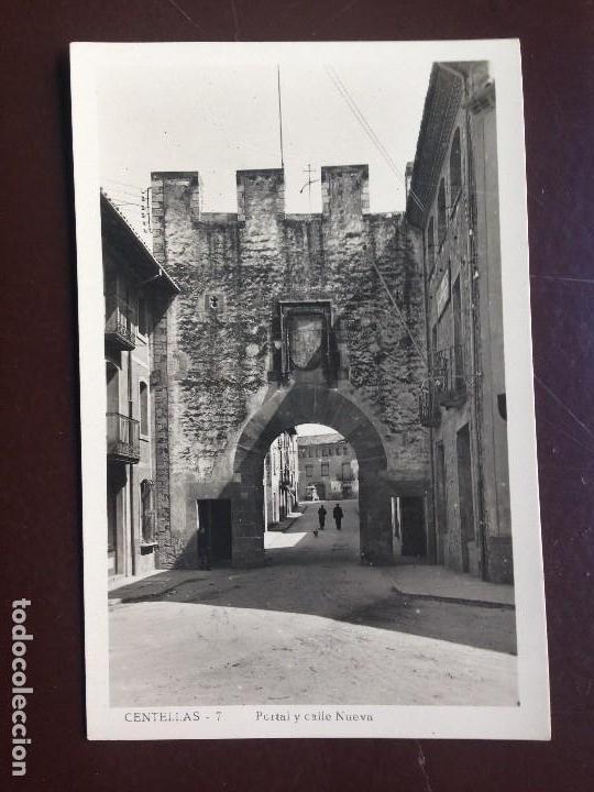 CENTELLAS. 7 - PORTAL Y CALLE NUEVA. GUILERA - CIRCULADA 1950 (Postales - España - Cataluña Moderna (desde 1940))