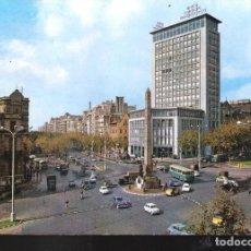 Postales: PLAZA DE LA VICTORIA Y AVENIDA DEL GENERALÍSIMO FRANCO. BARCELONA.. Lote 127213367