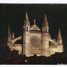Postales: MALLORCA LA CATEDRAL NOCTURNA A. SUBIRATS ESCRITA 15 X 10, CMS APROX.. Lote 127538247