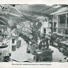 Postales: BARCELONA-FÁBRICA TARRIDA-SECCIÓN METAL BLANCO-AÑO 1905 FAROS PARA HISPANO SUIZA, MUY RARA. Lote 127944675