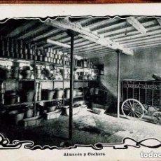Postales: BARCELONA-FÁBRICA TARRIDA--ALMACÉN Y COCHERA-AÑO 1905 FAROS PARA HISPANO SUIZA, MUY RARA. Lote 127945335
