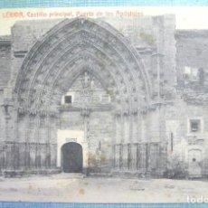 Postales: TARJETA POSTAL A.T.V. 955 LERIDA, CASTILLO PRINCIPAL, PUERTA DE LOS APÓSTOLES , SIN CIRCULAR. Lote 128293603