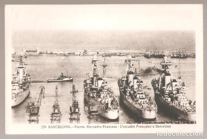 BARCELONA. 259. PUERTO ESCUADRA FRANCESA. L.ROISIN.. VELL I BELL (Postales - España - Cataluña Moderna (desde 1940))