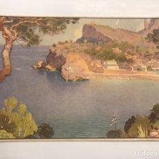 Postales: SOLLER (MALLORCA) POSTAL. ENTRADA AL PUERTO. EDITA: JUAN BARGUIÑO (BARCELONA) A.1945. Lote 128397986