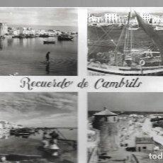 Postales: CAMBRILS -DIVERSOS ASPECTOS DE LA PLAYA- FOTO RAYMOND. EDICION PLANAS. NO ESCRITA . Lote 128443395