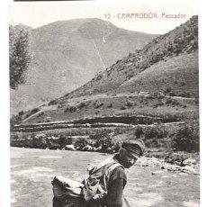 Postales: GIRONA CAMPRODON PESCADOR. FOTOTIPIA THOMAS. SIN CIRCULAR. Lote 128480811