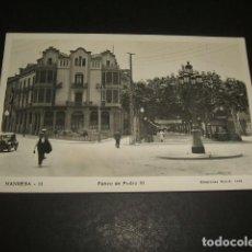 Postales: MANRESA BARCELONA PASEO DE PEDRO III. Lote 128716959