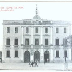 Postales: TARJETA POSTAL A.T.V. 1134 LLORET DE MAR CASAS CONSISTORIALES , 1905-1911, SIN CIRCULAR. Lote 129031615