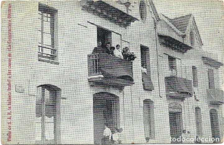 VISITA S.A.R. INFANTA ISABEL A LAS CASAS DE LA CONSTRUCTORA OBRERA .- EDI. HORMIGA DE ORO (Postales - España - Cataluña Antigua (hasta 1939))