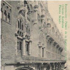 Postales: BARCELONA .- PALACO DE LA KATALUNA MUZIK .- CONGRESO ESPERANTO 1909. Lote 129224083