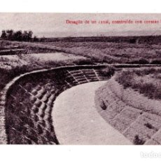 Postales: A.BIANCHINI. INGENIEROS. BARCELONA. DESAGUE DE UN CANAL, CONSTRUIDO CON CORAZAS BIANCHINI. Lote 172927784