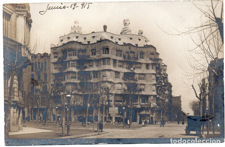 Ps7846 Barcelona Paseo De Gracia Arquitecto G Buy Old Postcards From Catalonia At Todocoleccion 129467247