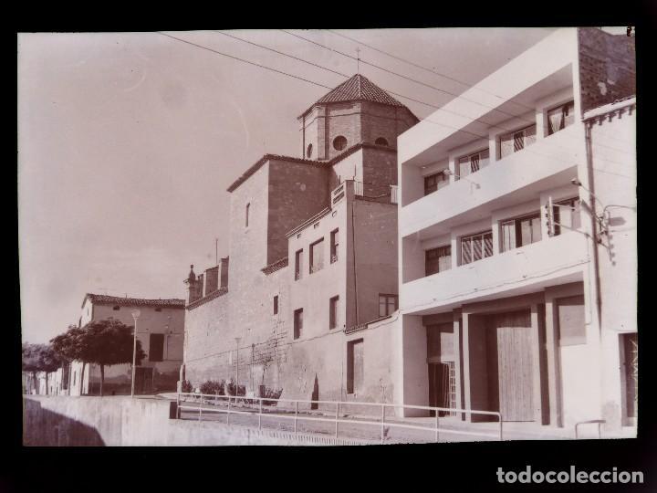 GOLMES, LERIDA - CLICHE ORIGINAL Y POSTAL - NEGATIVO EN CELULOIDE - FOTO JOANOT (Postales - España - Cataluña Antigua (hasta 1939))