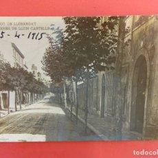 Postales: SANT BOY DE LLOBREGAT. CARRER DE LLUIS CASTELLS. POSTAL FOTOGRÁFICA. Lote 129986539