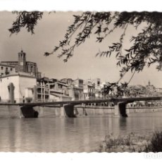 Postales: BALAGUER. - PUENTE DE LA VICTORIA Y VISTA PARCIAL. Lote 130059659