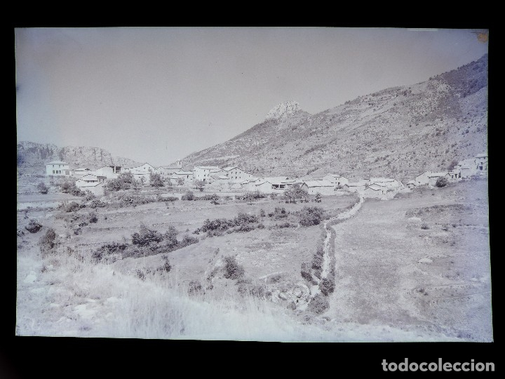 BOIXOLS, LERIDA - VISTA GENERAL - CLICHE ORIGINAL - NEGATIVO EN CELULOIDE - FOTO JANOT (Postales - España - Cataluña Antigua (hasta 1939))