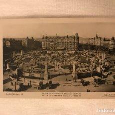Postales: BARCELONA. POSTAL NO.18. PLAZA DE CATALUÑA. HACIA EL TIBIDABO. EDITA: ZERKOWITZ (H.1950?). Lote 131022149