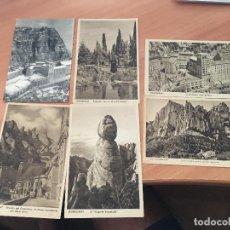 Postales: LOTE 6 POSTALES MONTSERRAT BARCELONA (CRIP2). Lote 131047644