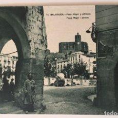 Postales: BALAGUER - Nº10 PLAZA MAYOR Y PÓRTICOS - 1ª SERIE - L. AMIROLA (SIN CIRCULAR). Lote 131071136