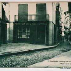 Postales: BALAGUER - Nº11 PLAZA Y CALLE DE SAN JAIME - 1ª SERIE - L. AMIROLA (SIN CIRCULAR). Lote 131073604
