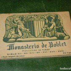 Postales: MONASTERIO DE POBLET. ÀLBUM DE 20 POSTALES. L. ROISIN. (BLOC POSTAL 2) - CONSERVA 18 POSTALES. Lote 131146560