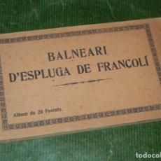 Postales: BALNEARIO ESPLUGA DE FRANCOLI. ÀLBUM DE 20 POSTALES. HUECOGRABADO MUMBRU - CONSERVA 19 POSTALES . Lote 131147092