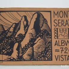 Postales: POSTALES - ALBUM 72 VISITAS MONTSERRAT - HUECOGRABADO RIEUSSET - BARCELONA. Lote 131163205