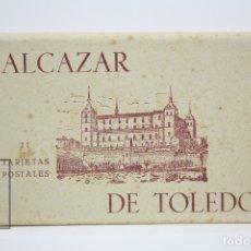 Postales: 21 POSTALES - ASEDIO ALCAZAR DE TOLEDO / GUERRA CIVIL - FRANCO, GENERAL MOSCARDÓ - HAUSER Y MENET. Lote 131163243