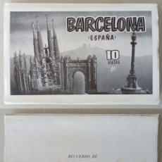 Postales: CARTERITA DE 10 VISTAS DE BARCELONA. AÑOS 50.. Lote 131188469