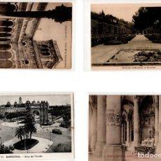 Postales: LOTE DE 4 POSTALES DE BARCELONA. . Lote 131894282