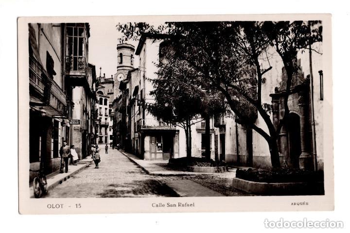 OLOT (GERONA).- CALLE DE SAN RAFAEL (Postales - España - Cataluña Antigua (hasta 1939))