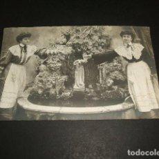 Postales: CATALUÑA POSTAL FOTOGRAFICA FUENTE DE BALNEARIO J. UBACH FOTOGRAFO REVERSO SIN DIVIDIR. Lote 132166682