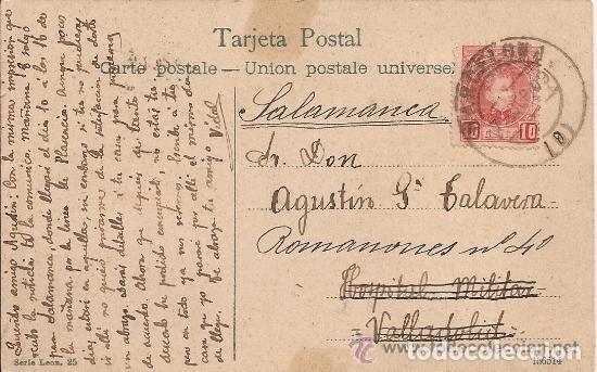 Postales: BARCELONA - Paseo de Colón - CIRCULADA - 1909 - Foto 2 - 134834501