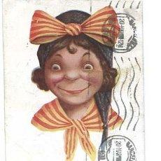 Postales: POSTAL ILUSTRADA CATALANISTA FELICITATS J. IBAÑEZ. ED. VICTORIA. CIRCULADA. Lote 132316242