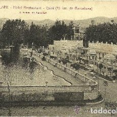 Postales: AMERICAN LAKE - HOTEL RESTAURANT - GAVÀ - FOTO: ROISIN - 1931 (ESCRITA SIN CIRCULAR). Lote 134834722