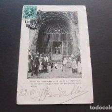 Postales: SAN PRIVAT DE BAS GERONA CAPILLA DEL SANTUARIO DE NUESTRA SEÑORA DE LAS OLLETAS CIRCULADA EN 1907 . Lote 132511338