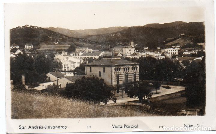PS7864 SAN ANDRÉS LLAVANERAS 'VISTA PARCIAL'. FOTOGRÁFICA. CIRCULADA. 1949 (Postales - España - Cataluña Moderna (desde 1940))