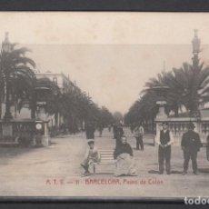 Postales: POSTAL DE BARCELONA CIRCULADA EN EL AÑO 1909 (PASEO DE COLON). Lote 132538978