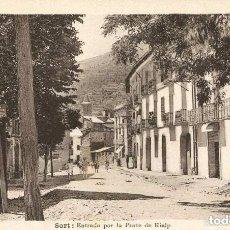 Postales: SORT-ENTRADA POR LA PARTE DE RIALP.-HOTEL Y CAFÉ PESSETS-FOTO SOLÉ- ÚNICA MUY RARA. Lote 132626082