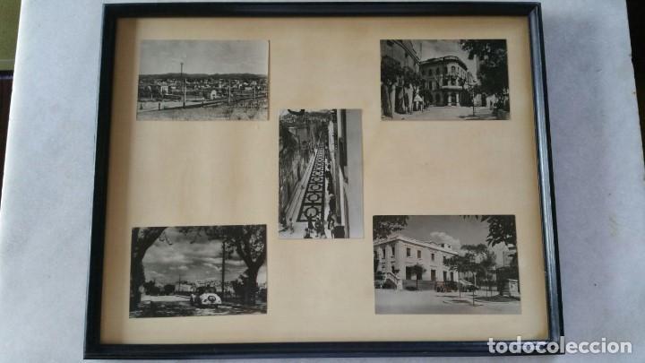 CUADRO CON CINCO FOTOGRAFIAS DE SANT CUGAT DEL VALLES AÑOS 50 (Postales - España - Cataluña Moderna (desde 1940))