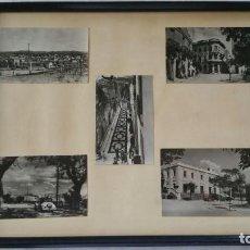 Postales: CUADRO CON CINCO FOTOGRAFIAS DE SANT CUGAT DEL VALLES AÑOS 50. Lote 132676402