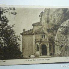 Postales: POSTAL MONTSERRAT .- SANTA CUEVA VIRGEN - CIRCULADA CM. Lote 132791554