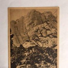 Postales: MONTSERRAT (BARCELONA) POSTAL AÉREO A SAN JERÓNIMO. EDITA: HUECOGRABADO RIEUSSET, FOTO RIPOL O.S.B.. Lote 133255733