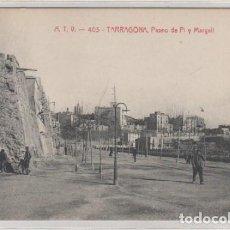 Postales: ATV 403 TARRAGONA PASEO DE PI Y MARGALL ED ANGEL TOLDRA SIN CIRCULAR. . Lote 133298194