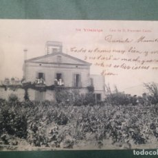 Postales: VILAJUIGA (GIRONA): CASA DE D.FRANCESC CARITX (COMPTOIR PHOTOS NUM.554) - CIRCULADA. Lote 133484158