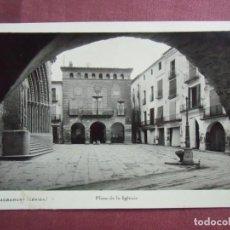 Postales: POSTAL AGRASAMUNT(LERIDA) FOTOGRÁFICA SIN EDITOR,CIRCULADA PUBLICIDAD EN REVERSO.. Lote 133669262