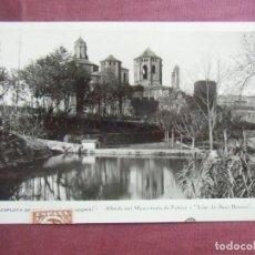 Postales: POSTAL ESPLUGA DE FRANCOLI(TARRAGONA)CIRCULADA HACIA 1929, CON PUBLICIDAD EN REVERSO.. Lote 133669790