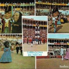 Postales: TARRAGONA Nº 510 LOS CABEZUDOS Y CENTRO CASTELLS .- POSTALES SEGESTE. Lote 133796206